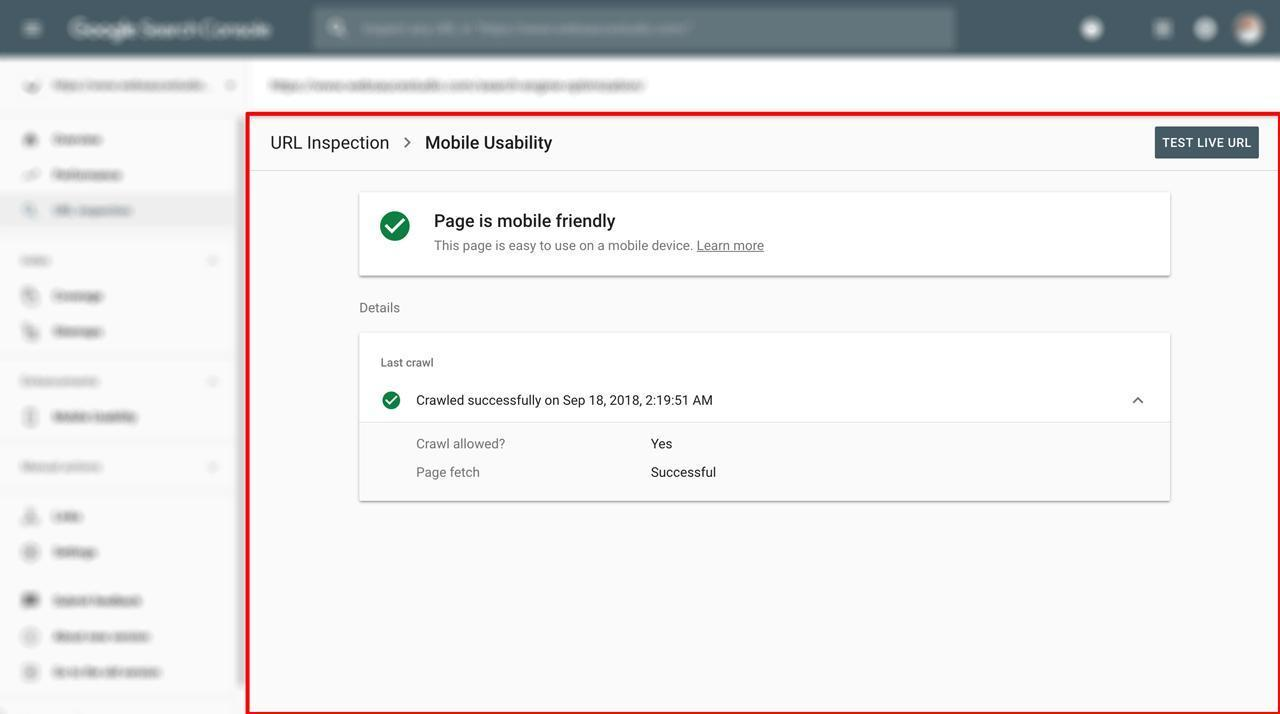 Mobile usability Hướng Dẫn Submit Sitemap Lên Google Search Console