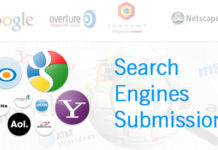 search engines submissions