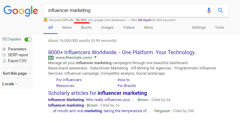 influencer-marketing-Google Review Chi Tiết Plugin SEOquake 2019